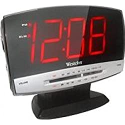 Westclox Plasma Style Clock Radio 80187