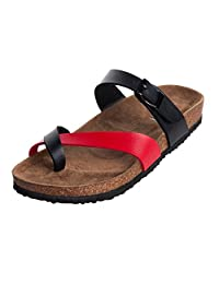 WTW Women's Mayari Sandals with Buckled Cork Strap Soft and Durable
