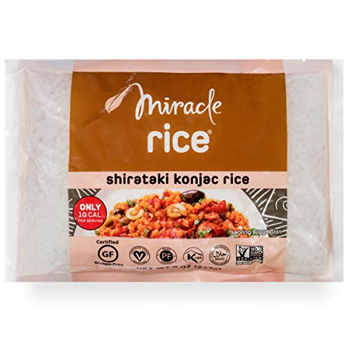 Miracle Noodle Zero Carb, Gluten Free Shirataki Rice (Packaging May Vary), 8-Ounce, (Pack of 6)