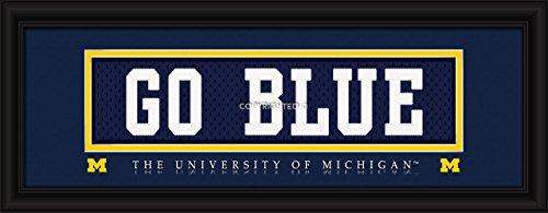 Michigan Wolverines Stitched Uniform Slogan Print - Go Blue