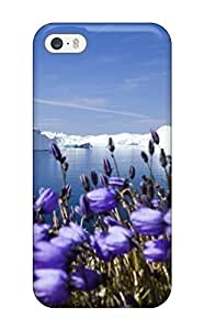New Style CaseyKBrown Hard Case Cover For Iphone 5/5s- Purple Arctic Flowers
