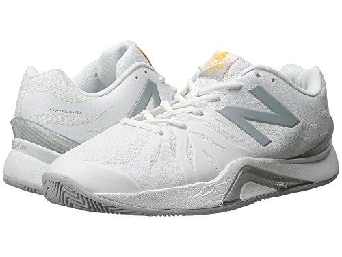 オーバーフロー素子タヒチ(ニューバランス) New Balance レディーステニスシューズ?スニーカー?靴 WC1296v2 White/Grey 10.5 (27.5cm) B - Medium