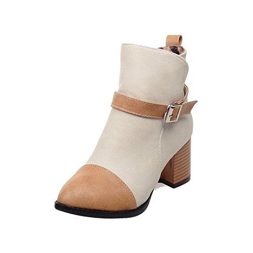 Women's Zipper Kitten-Heels PU Assorted Colors Low-top Boots