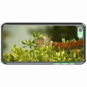 iPhone 5C Black Hardshell Case iguana grass climbing plant Desin Images Protector Back Cover