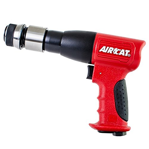 AIRCAT 5100-A-T Stroke Low Vibration Composite Air Hammer, Medium, Red & Black