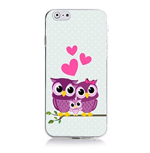 Coconut Family Owls-Eulen Hülle für Apple iPhone 6 Plus