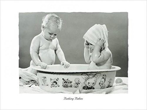Posters: Babies Poster Art Print - Bathing Babies