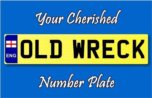 Número de registro de matrícula personalizado llavero viejo ...