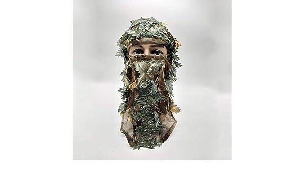 MOMOALA AAlamor 3D M/áscara De La Cara Completa Adulto Camuflaje Caza Bufanda Gorra Balaclava Invierno Sombrero Campana