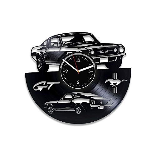 RainbowClocks Ford Mustang Vinyl Clock Mustang Wall Clock Vintage Car Clock Gift For Man Mustang Vinyl Record Clock Mustang Xmas Gift Mustang Gift Mustang Clock Mustang Vinyl Wall Clock