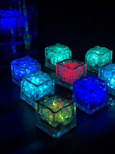 (Cubes Flashing with rainbow colors x 12 units - Blinking - Light cubes for)