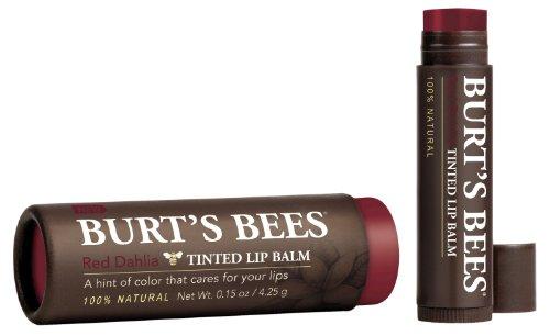 Burt 's Bees Baume pour les lèvres teinté, dahlia rouge, 0,15 once (Pack de 2)