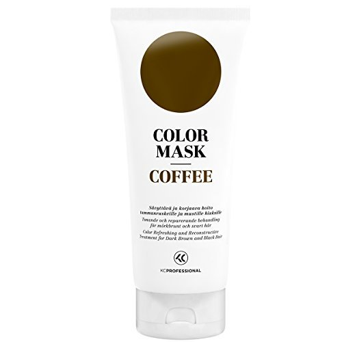 (Color Mask Coffee Reconstructive Treatment - Toning Conditioner for Dark Brown Hair - Removes Brassiness - 6.76 oz)