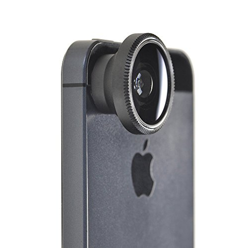 BeneU® 180°Fish-Eye Lens+Wide Angle Lens+Micro Lens 3-in-1 Magnetic Easy-Use Camera Lens Kits for iPhone 5 5C 5S 4S 4 3GS iPad mini iPad 4 3 2 Samsung Galaxy S4 S3 S2 Note 3 2 1 Sony Xperia L36h L36i HTC ONE Phones with Flat Camera (3-in-1 Magnetic Camera Lens Kits)