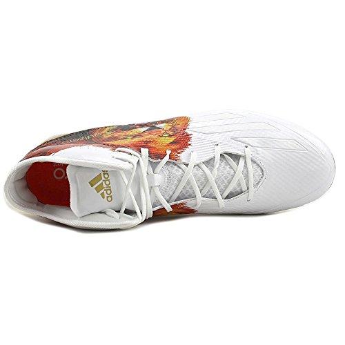 adidas Adizero 5Star 5.0 Mid Uncaged Herren Fußballschuh Löwe-weiß