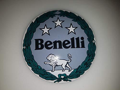 - Classic Benelli Motorcycles Porcelain Enamel Door Sign EMAILLE! 4 INCH = 12cm! Weight 0.22lb!! Replica!