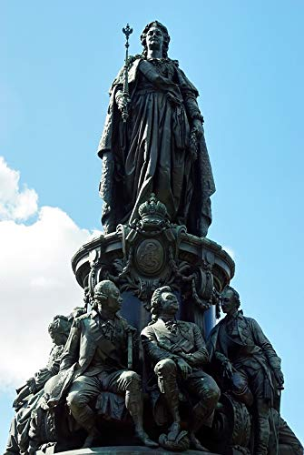 Home Comforts Peel-n-Stick Poster of Statue Catherine 2 Bronze St Petersburg Monument Vivid Imagery Poster 24 x 16 Adhesive Sticker Poster Print