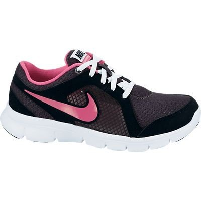 Girls Nike Flex Experience Running Shoe Anthracite/White/Black/Pink Foil Size 4.5