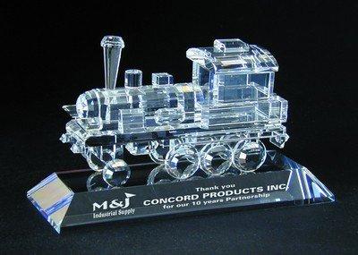 Crystal Train Engine Figurine - Figurine Train Engine
