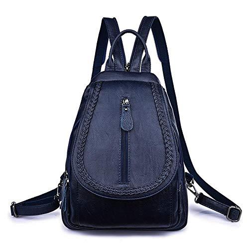 marrón mujer Oscuro hombro para única talla Azul Bolso al MANYYSI xzqIXI