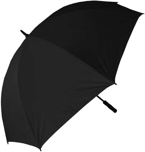 RainStoppers 68-Inch Oversize Windproof Golf Umbrella, Black/White