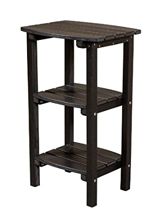 Little Cottage Classic Adirondack Side Table With Shelves