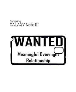 Lmf DIY phone caseWanted Meaningful Overnight Relationship Mobile Cell Phone Case Samsung Note 3 BlackLmf DIY phone case