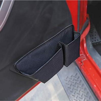 RT-TCZ for Jeep Wrangler JK Door Storage Pockets Interior Organizer Accessories for 2011-2020 Jeep Wrangler JK JKU 2/4-Door: Automotive