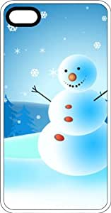 Snowman White Rubber Case for Apple iPhone 4 or iPhone 4s