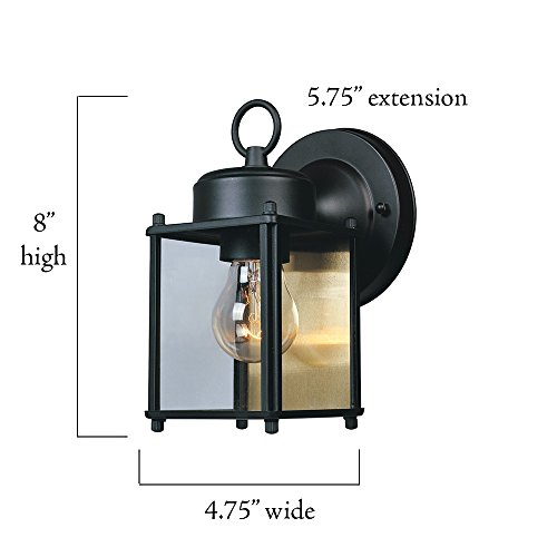 Designers Fountain 1161-BK Value Collection Wall Lanterns, Black by Designers Fountain (Image #2)