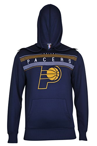 fan products of NBA Men's Indiana Pacers Fleece Hoodie Pullover Sweatshirt Poly Midtown, Large, Navy