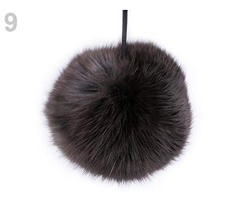 1pc 9 Darkbrown Rabbit Fur Pom Pom, Bags Accessories, Accessories Handmade, Poms and Accessories, Clothing, Footwear Decor, Haberdashery