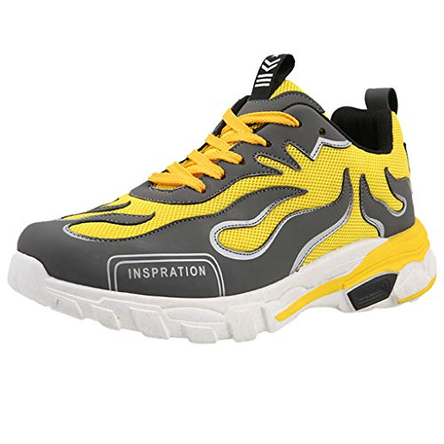 iHPH7 Walking Sneakers,Casual Breathable,Athletic Walking Running Shoes,Trail Running Shoe,Swim Shoes,Barefoot Shoes,Barefoot Running Shoes,Sport Hiking Water Shoe (43,Yellow)]()