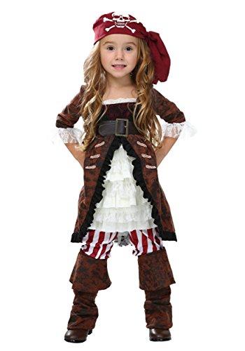 Toddler Brown Coat Pirate Costume 4T ()