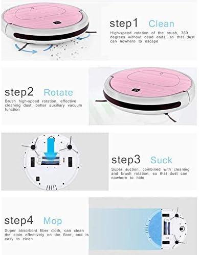CHUTD Robot Aspirateur, Robot de Balayage Intelligent Machine de Balayage et de Glissement Aspirateur de Navigation Intelligente pour la Maison