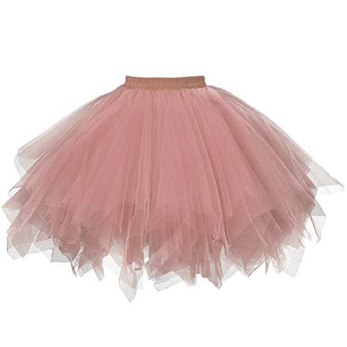 (Musever 1950s Vintage Ballet Bubble Skirt Tulle Petticoat Puffy Tutu Blush)