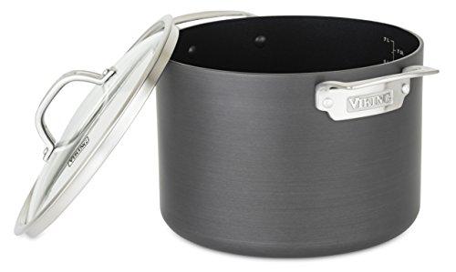 (Viking 40051-0428 Hard Anodized Nonstick Stock Pot, 8 Quart, Gray)