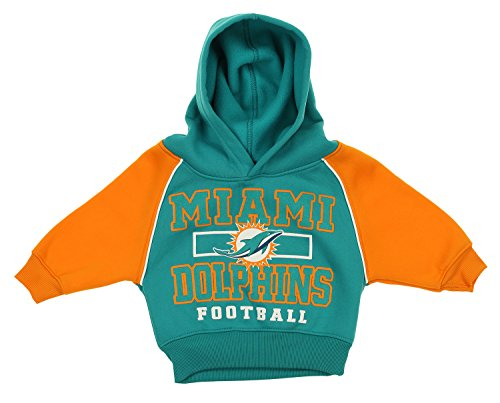 Outerstuff Miami Dolphins Infants Toddler Aqua Football Fleece Pullover Hoodie (3T)