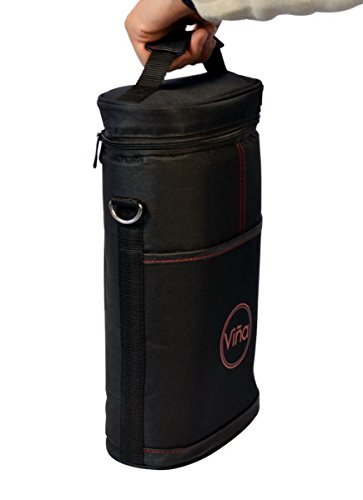 Vina 2 bottle wine tote carrier portable insulated - Amazon porta vino ...