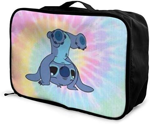 ボストンバッグ ステッチ キャリーオンバッグ トラベルバッグ 大容量 厚手 丈夫 荷物 折りたたみ スーツケース固定可 旅行 出張 男女兼用 かわいい おしゃれ