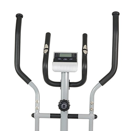 Compact Magnetic Elliptical Machine Trainer with LCD Monitor and Pulse Rate Grips by EFITMENT E005