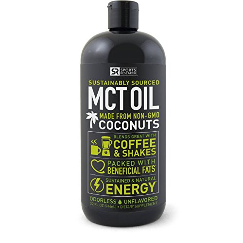 Premium MCT Oil derived only from Coconut Oil – 32oz BPA free bottle | Ketogenic and Paleo diet approved ~ Non-GMO Project Verified