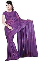 violet foncé très joli Saree / Sari dans Bollywood