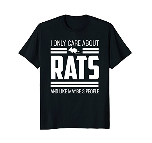 Only Care About Rats Funny Pet Rat or Mouse Gift T-Shirt (Dumbo Rat)