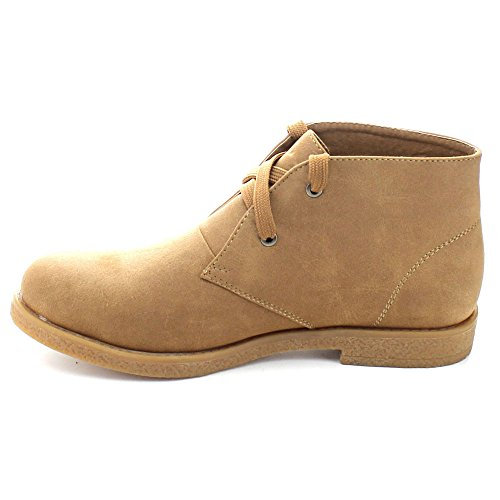 Ankle Booties Up Breeze 02 Fold Soft Camel Ease Cuff Nature Over Flat Women's Lace P6xUwqR