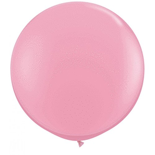 Koyal Wholesale Round Latex Giant Balloon (Pack of 2), 3', Pink ()