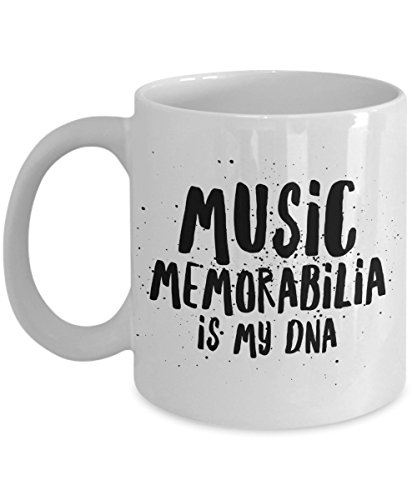 Music Memorabilia Is My Dna, 11Oz Coffee Mug Unique Gift Idea for Him, Her, Mom, Dad - Perfect Birthday Gifts for Men or (Dog Dragon Costume Pattern)