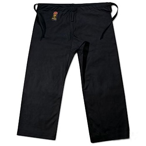 ProForce Gladiator 14oz Karate Pants w/ Traditional Waist - Black - Size 5 (Gladiator Gi)