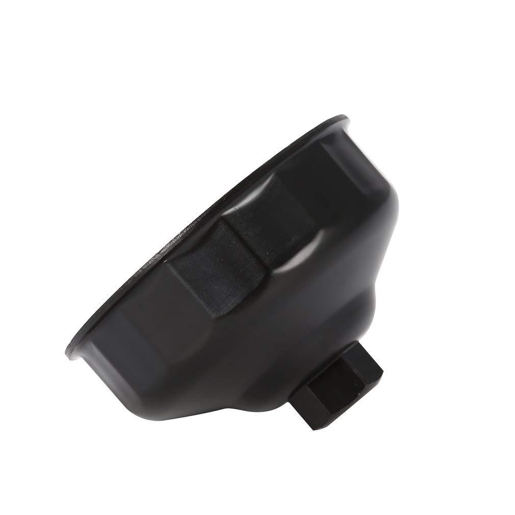 Leoboone Cl/é De Filtre /À Huile 86mm 16 Fl/ûtes Finale Socket Square Drive Cap Remover Outil Mini Auto Outils De R/éparation De Voiture pour BMW Volvo