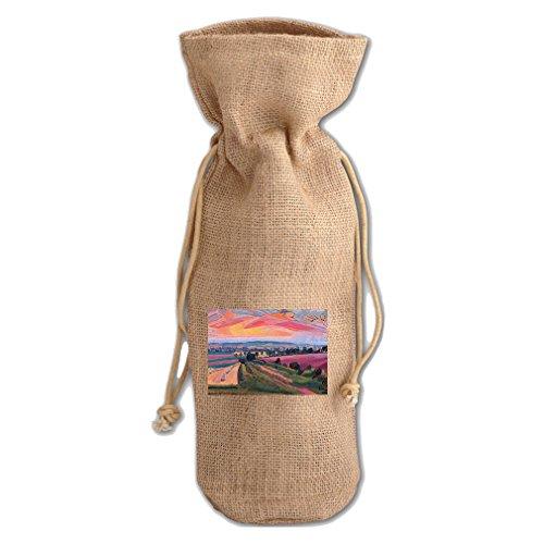 The Icknield Way (Spencer Gore) Jute Burlap Burlap Wine Drawstring (Gore Wrap)